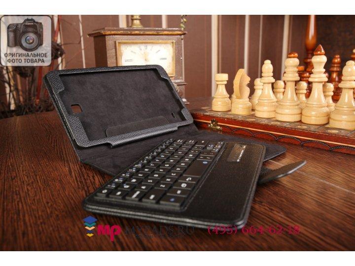 Фирменный оригинальный чехол со съёмной Bluetooth-клавиатурой для Samsung Galaxy Tab 4 8.0 SM-T330/T331/T335 ч..