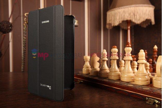 """Чехол с логотипом для Samsung Galaxy Tab 4 8.0 SM-T330/T331/T335 с дизайном """"Book Cover"""" черный"""