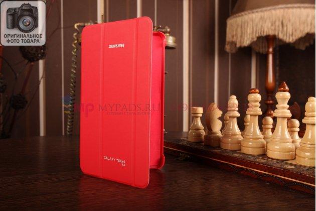 """Чехол с логотипом для Samsung Galaxy Tab 4 8.0 SM-T330/T331/T335 с дизайном """"Book Cover"""" красный"""