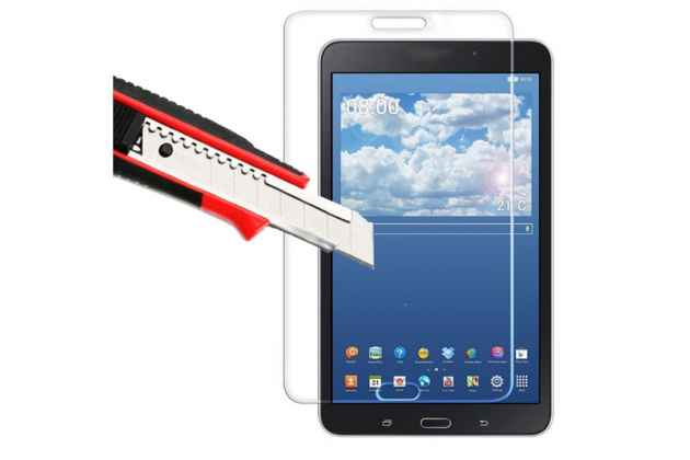 Фирменное защитное закалённое противоударное стекло премиум-класса из качественного японского материала с олеофобным покрытием для Samsung Galaxy Tab 4 8.0 SM-T330/T331/T335