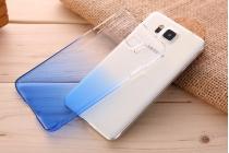 Фирменная из тонкого и лёгкого пластика задняя панель-чехол-накладка дляSamsung Galaxy Alpha SM-G850F прозрачная с эффектом дождя