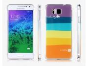 Фирменная необычная из легчайшего и тончайшего пластика задняя панель-чехол-накладка для Samsung Galaxy Alpha ..
