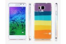 """Фирменная необычная из легчайшего и тончайшего пластика задняя панель-чехол-накладка для Samsung Galaxy Alpha SM-G850F """"тематика Все цвета Радуги"""""""