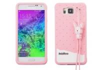 """Фирменная необычная уникальная полимерная мягкая задняя панель-чехол-накладка для Samsung Galaxy Alpha SM-G850F """"тематика Андроид в клубничном шоколаде"""""""