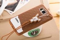 """Фирменная необычная уникальная полимерная мягкая задняя панель-чехол-накладка для Samsung Galaxy Alpha SM-G850F """"тематика Андроид в тёмном Шоколаде"""""""