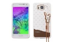 """Фирменная необычная уникальная полимерная мягкая задняя панель-чехол-накладка для Samsung Galaxy Alpha SM-G850F """"тематика Андроид в Белом Шоколаде"""""""
