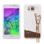 Фирменная необычная уникальная полимерная мягкая задняя панель-чехол-накладка для Samsung Galaxy Alpha SM-G850..