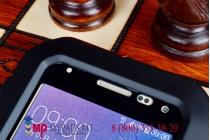 Неубиваемый водостойкий противоударный водонепроницаемый грязестойкий влагозащитный ударопрочный фирменный чехол-бампер для Samsung Galaxy Alpha SM-G850F цельно-металлический со стеклом Gorilla Glass