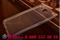 Фирменная ультра-тонкая полимерная из мягкого качественного силикона задняя панель-чехол-накладка для Samsung Galaxy Alpha SM-G850F прозрачная