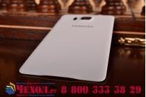 Фирменная задняя панель-крышка-накладка из тончайшего и прочного пластика для Samsung Galaxy Alpha SM-G850F белая