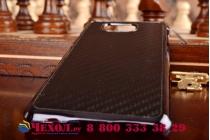 """Задняя панель-крышка из тончайшего и прочного пластика для Samsung Galaxy Alpha SM-G850F с матовой отделкой """"под карбон"""" черная"""
