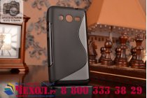 Фирменная ультра-тонкая полимерная из мягкого качественного силикона задняя панель-чехол-накладка для Samsung Galaxy Core 2 G355h черная