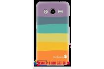 """Фирменная необычная из легчайшего и тончайшего пластика задняя панель-чехол-накладка для Samsung Galaxy Core 2 G355h """"тематика Все цвета Радуги"""""""