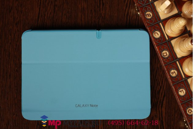 "Чехол с логотипом для Samsung Galaxy Note 10.1 N8000 с дизайном ""Book Cover"" темно-синий"
