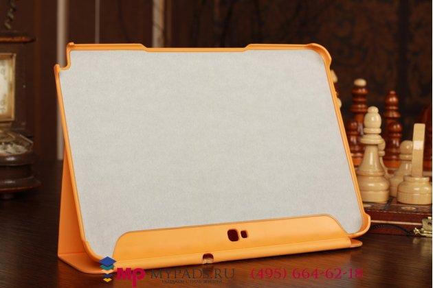 """Чехол с логотипом для Samsung Galaxy Note 10.1 N8000 с дизайном """"Book Cover"""" оранжевый"""