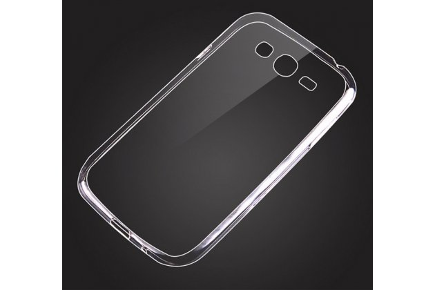 Фирменный оригинальный ультра-тонкий чехол-накладка из мягкого силикона для Samsung Galaxy Grand GT-i9082 прозрачный