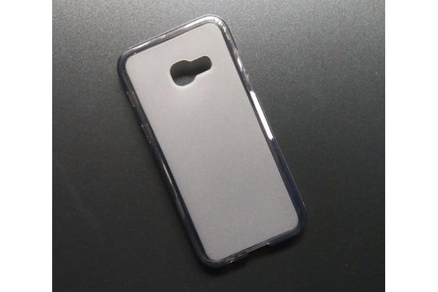 """Фирменная ультра-тонкая полимерная из мягкого качественного силикона задняя панель-чехол-накладка для Samsung Galaxy A3 (2017) SM-A320F 4.7"""" серая"""