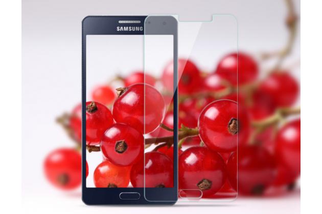 """Фирменное защитное закалённое противоударное стекло премиум-класса из качественного японского материала с олеофобным покрытием для телефона Samsung Galaxy A3 (2017) SM-A320F 4.7"""""""