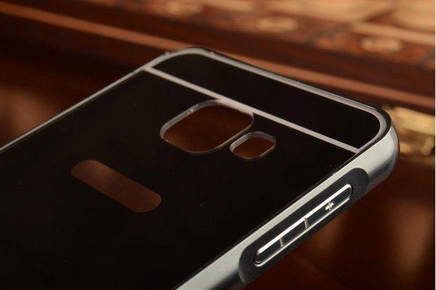 """Фирменная металлическая задняя панель-крышка-накладка для Samsung Galaxy A3 (2016) SM-A310/ A3100/ A310F 4.7"""" из тончайшего облегченного авиационного алюминия черного цвета"""