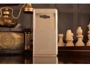 Фирменный чехол-книжка для Samsung Galaxy E7 с функцией умного окна(входящие вызовы, фонарик, плеер, включение..