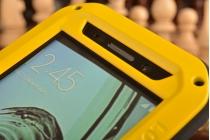 """Неубиваемый водостойкий противоударный водонепроницаемый грязестойкий влагозащитный ударопрочный фирменный чехол-бампер для Samsung Galaxy A3 (2016) SM-A310/ A3100/ A310F 4.7"""" цельно-металлический со стеклом Gorilla Glass желтый"""