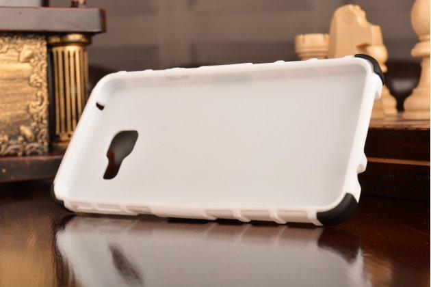 """Противоударный усиленный ударопрочный фирменный чехол-бампер-пенал для Samsung Galaxy A3 (2016) SM-A310/ A3100/ A310F 4.7""""  белый"""