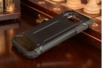 """Противоударный усиленный ударопрочный фирменный чехол-бампер-пенал для Samsung Galaxy A3 (2016) SM-A310/ A3100/ A310F 4.7""""  черный"""