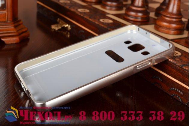 Фирменная металлическая задняя панель-крышка-накладка из тончайшего облегченного авиационного алюминия для Samsung Galaxy A3 SM-A300F/H/YZ серебристая
