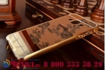 Фирменная металлическая задняя панель-крышка-накладка из тончайшего облегченного авиационного алюминия для Samsung Galaxy A3 SM-A300F/H/YZ золотая