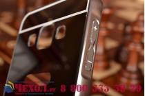 Фирменная металлическая задняя панель-крышка-накладка из тончайшего облегченного авиационного алюминия для Samsung Galaxy A3 SM-A300F/H/YZ черная