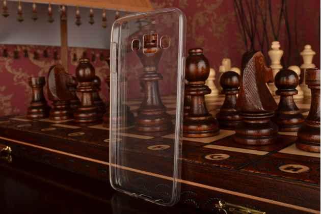 Фирменная ультра-тонкая полимерная задняя панель-чехол-накладка из силикона для Samsung Galaxy A3 SM-A300F/H/YZ прозрачная
