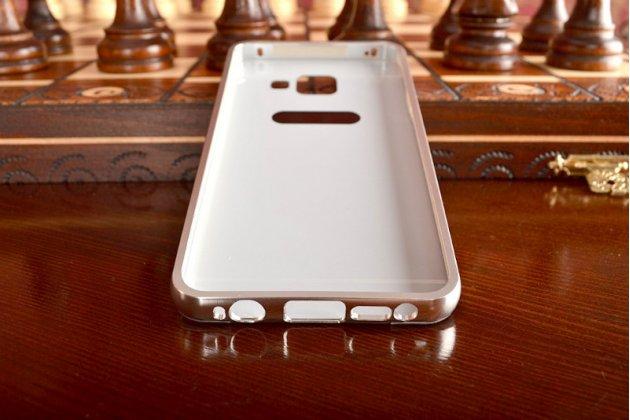 """Фирменная металлическая задняя панель-крышка-накладка для Samsung Galaxy A3 (2016) SM-A310/ A3100/ A310F 4.7"""" из тончайшего облегченного авиационного алюминия серебряного цвета"""