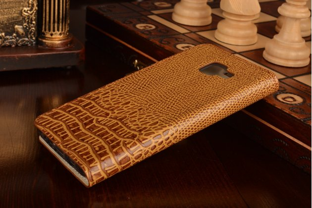 """Фирменный роскошный эксклюзивный чехол с объёмным 3D изображением кожи крокодила коричневый для Samsung Galaxy A3 (2016) SM-A310/ A3100/ A310F 4.7"""" """". Только в нашем магазине. Количество ограничено"""