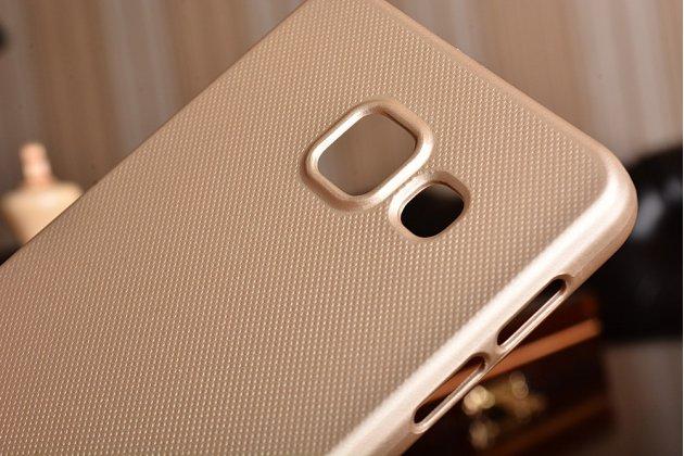 Фирменная задняя панель-крышка-накладка из тончайшего и прочного пластика для Samsung Galaxy A3 (2016) SM-A310/ A3100/ A310F 4.7  золотая