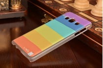 """Фирменная необычная из легчайшего и тончайшего пластика задняя панель-чехол-накладка для Samsung Galaxy A5 SM-A500F/H """"тематика Все цвета Радуги"""""""