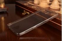 Фирменная ультра-тонкая полимерная из мягкого качественного силикона задняя панель-чехол-накладка для Samsung Galaxy A5 SM-A500F/H черная полупрозрачная