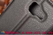"""Фирменный чехол-книжка из качественной импортной кожи с подставкой застёжкой и визитницей для Самсунг Гэлакси / Samsung Galaxy A5 2016/  A5+ / A510 / A5100 5.2"""" черный"""