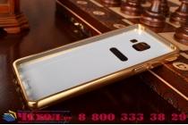 """Фирменная металлическая задняя панель-крышка-накладка из тончайшего облегченного авиационного алюминия для Samsung Galaxy A5 2016/  A5+ / A510 / A5100 5.2"""" золотая"""