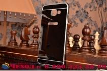 """Фирменная металлическая задняя панель-крышка-накладка из тончайшего облегченного авиационного алюминия для Samsung Galaxy A5 2016/  A5+ / A510 / A5100 5.2"""" черная"""