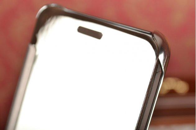 """Фирменный оригинальный чехол-книжка Samsung Galaxy A5 2016/  A5+ / A510 / A5100 5.2"""" серебристый с дизайном «Clear View Cover»"""