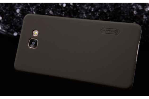 """Фирменная задняя панель-крышка-накладка из тончайшего и прочного пластика для Samsung Galaxy A5 2016/  A5+ / A510 / A5100 5.2""""  коричневая"""