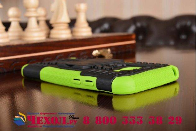 Противоударный усиленный ударопрочный фирменный чехол-бампер-пенал для Samsung Galaxy A5 SM-A520F (2017) зеленый