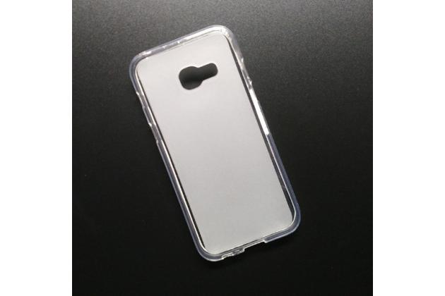 Фирменная ультра-тонкая полимерная из мягкого качественного силикона задняя панель-чехол-накладка для Samsung Galaxy A5 SM-A520F (2017) белая