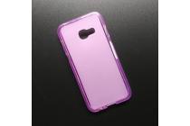 Фирменная ультра-тонкая полимерная из мягкого качественного силикона задняя панель-чехол-накладка для Samsung Galaxy A5 SM-A520F (2017) розовая