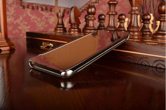 """Фирменный оригинальный чехол-книжка Samsung Galaxy A7 2016 / A7100 / A710F / A7+  5.5"""" .2"""" серебристый"""