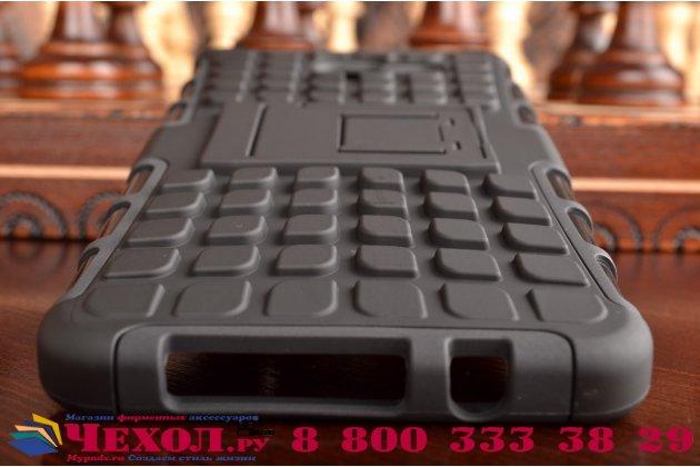 """Противоударный усиленный ударопрочный фирменный чехол-бампер-пенал для Samsung Galaxy A7 2016 / A7100 / A710F / A7+  5.5""""  черный"""