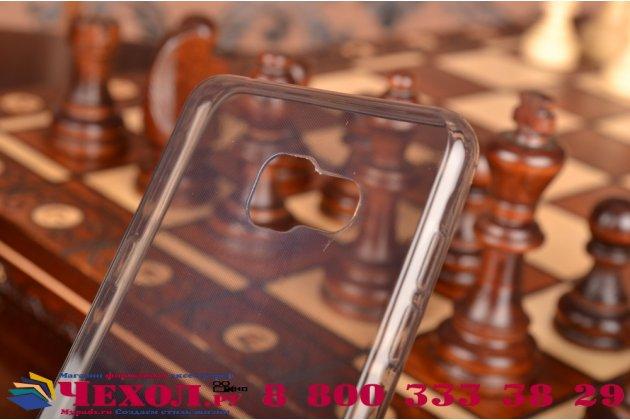 """Фирменная ультра-тонкая полимерная из мягкого качественного силикона задняя панель-чехол-накладка для Samsung Galaxy A7 2016 / A7100 / A710F / A7+  5.5"""" черная"""
