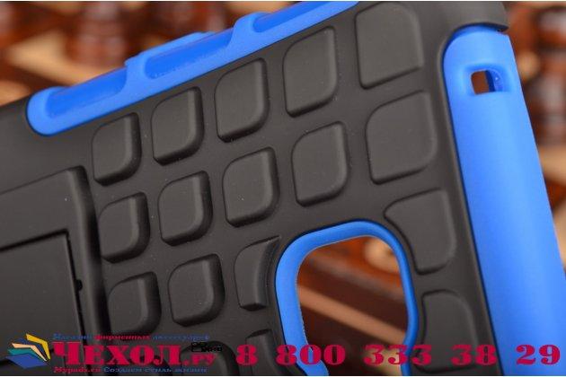"""Противоударный усиленный ударопрочный фирменный чехол-бампер-пенал для Samsung Galaxy A7 2016 / A7100 / A710F / A7+  5.5""""  синий"""