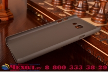 """Фирменная задняя панель-крышка-накладка из тончайшего и прочного пластика для Samsung Galaxy A7 2016 / A7100 / A710F / A7+  5.5"""" коричневая"""