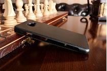 """Фирменный чехол-книжка для Samsung Galaxy A7 2016 / A7100 / A710F / A7+  5.5""""   черный  с окошком для входящих вызовов и свайпом водоотталкивающий"""